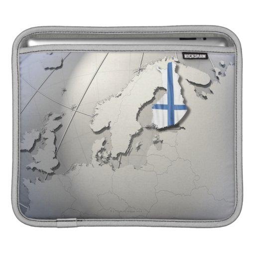 Bandera de Finlandia Funda Para iPads