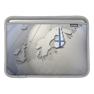 Bandera de Finlandia Fundas Macbook Air