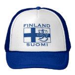 Bandera de Finlandia Gorros Bordados