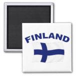 Bandera de Finlandia Imán De Frigorífico