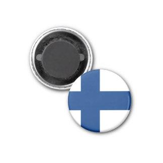 Bandera de Finlandia Imán Redondo 3 Cm