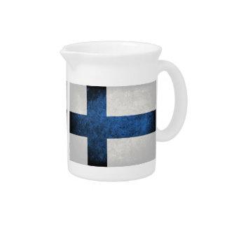 Bandera de Finlandia Jarras