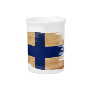 Bandera de Finlandia Jarron
