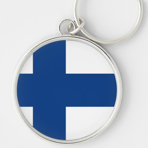 Bandera de Finlandia Llavero