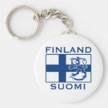 Bandera de Finlandia Llaveros Personalizados