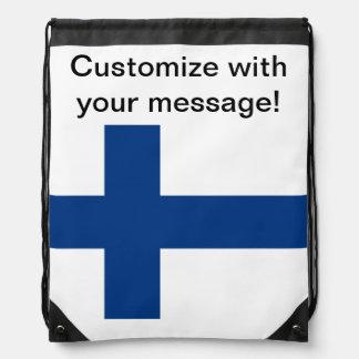 Bandera de Finlandia Mochila