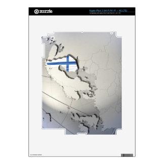 Bandera de Finlandia Pegatinas Skins Para iPad 3