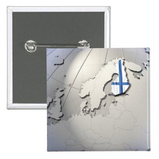 Bandera de Finlandia Pin