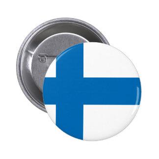 Bandera de Finlandia Pin Redondo De 2 Pulgadas