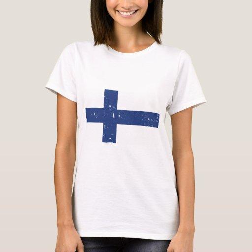 Bandera de Finlandia Playera