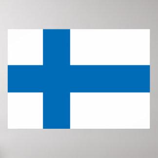 Bandera de Finlandia Póster