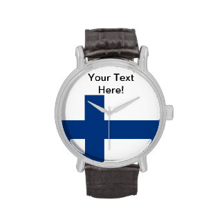 Bandera de Finlandia Reloj De Mano