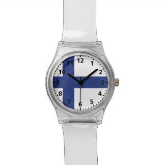 Bandera de Finlandia Relojes De Mano