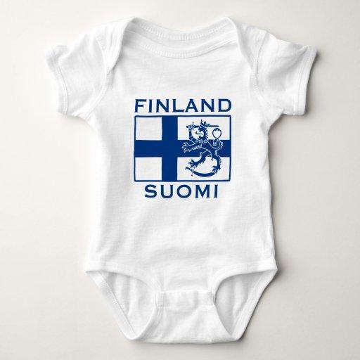 Bandera de Finlandia Remeras