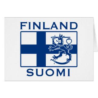 Bandera de Finlandia Tarjeta De Felicitación