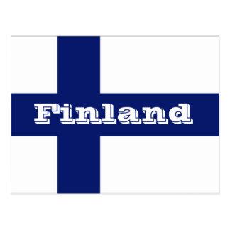 Bandera de Finlandia Tarjeta Postal