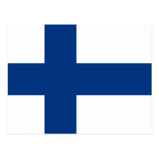 Bandera de Finlandia Tarjetas Postales