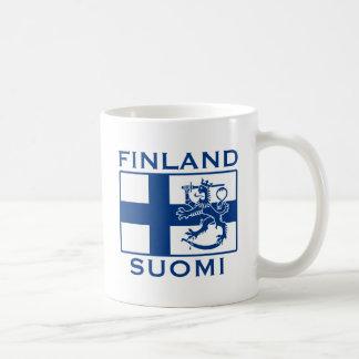 Bandera de Finlandia Taza