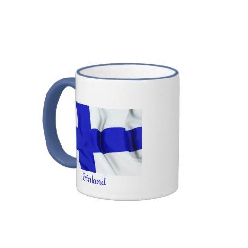 Bandera de Finlandia Taza A Dos Colores