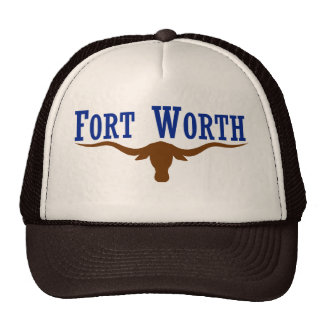 Bandera de Fort Worth Gorras De Camionero