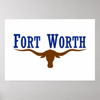 Bandera de Fort Worth Poster