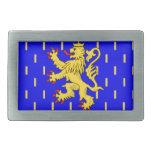 Bandera de Franche-Comté (Francia) Hebillas Cinturon Rectangulares