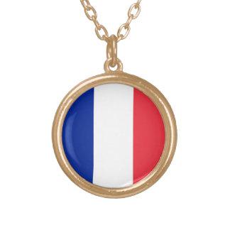 Bandera de Francia, bandera nacional tricolora Collar Dorado