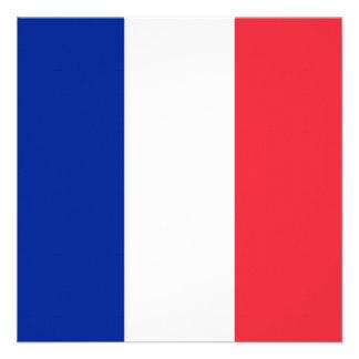 Bandera de Francia Comunicados Personalizados