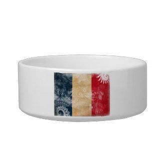 Bandera de Francia Tazón Para Agua Para Gatos