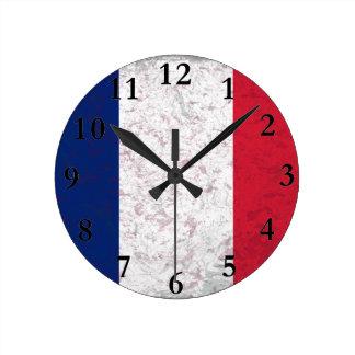 Bandera de Francia del la de Pavillon de Francia Reloj Redondo Mediano