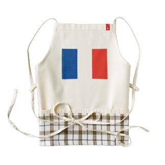 Bandera de Francia Delantal Zazzle HEART