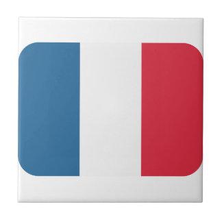 Bandera de Francia - emoji del gorjeo Azulejo Cuadrado Pequeño