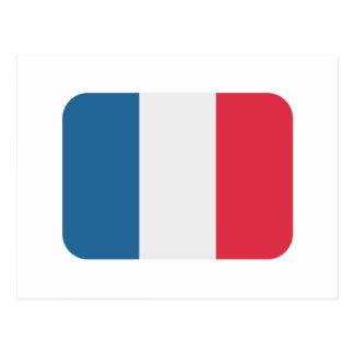 Bandera de Francia - emoji del gorjeo Tarjetas Postales
