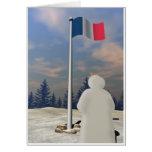 Bandera de Francia Felicitacion