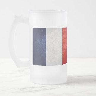 Bandera de Francia; Francés; Taza Cristal Mate