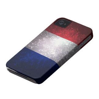 Bandera de Francia iPhone 4 Case-Mate Cobertura
