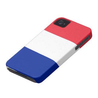 Bandera de Francia Case-Mate iPhone 4 Cárcasas