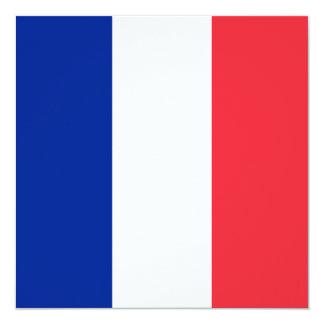 Bandera de Francia Invitación 13,3 Cm X 13,3cm