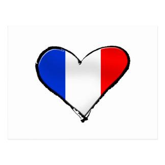 Bandera de Francia Je Taime del regalo de Francia Tarjeta Postal