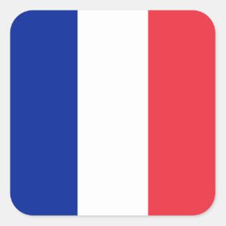 Bandera de Francia Pegatina Cuadrada