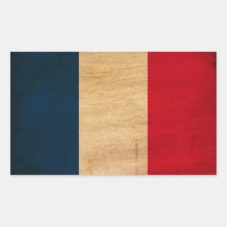Bandera de Francia Pegatina Rectangular