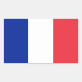 Bandera de Francia Rectangular Pegatina
