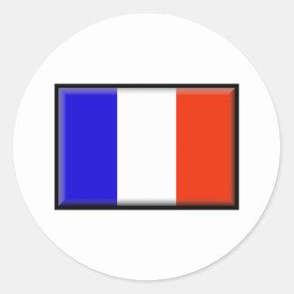 Bandera de Francia Pegatinas Redondas