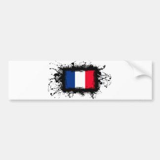 Bandera de Francia Pegatina Para Auto