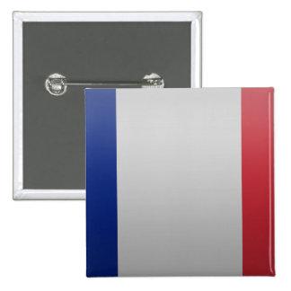 Bandera de Francia Pin Cuadrado