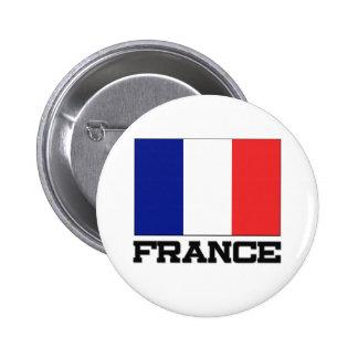 Bandera de Francia Pin Redondo De 2 Pulgadas