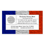 bandera de Francia Plantilla De Tarjeta Personal