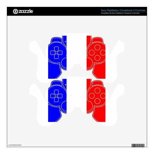 Bandera de Francia Skins Para Mandos PS3