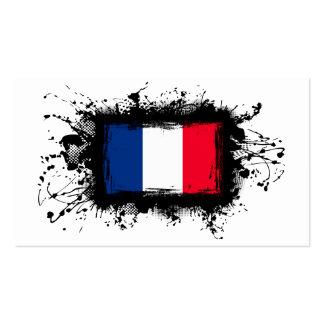 Bandera de Francia Tarjetas Personales