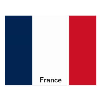 Bandera de Francia Tarjeta Postal